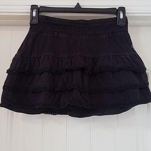Justice Black Ruffled Skirt w/shorts